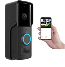Wifi Draadloze Video-Deurbel, Tuya Smart Home 1080P Deurtelefoongesprek Audio-Intercomcamera Werkt Met Alexa En Google Ass...