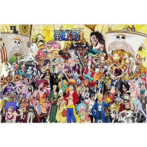 Jqchw One Piece Anime Cartoon Puzzles 1000 Stück Holz Puzzle One Piece Gruppe Foto Poster Collection Puzzle Erwachsene Puzzle Dekomprimierung Spielzeug Startseite Puzzle-Spiel Puzzle Interessante Gesc
