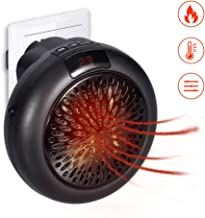 GHONZLIN Mini Heater, Mini Instant Heater,Thermostat Electric Heater with Timer Fan Heater,Compact Plug-in Digital Electric Heater with LED Display 1000W