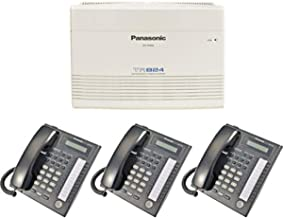 Panasonic KX-TA824 System plus (3) KX-T7731 Black Telephones