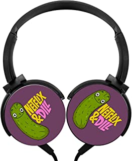 Hidui Heavy Bass Headphone Netflix & Dill Surround Sound High Fidelity Stereo Rotation Axis Design Portable Wired Headset For Adult'S Or Child'S