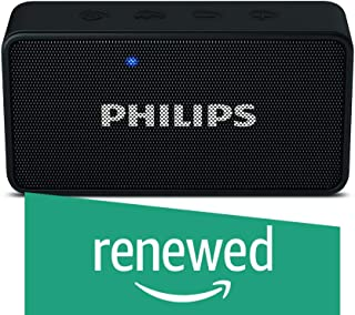 (Renewed) Philips BT64B Portable Bluetooth Speakers (Black)