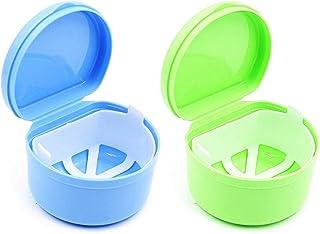 Boîte de Rangement Appareil Dentaire Boîte de Prothèse Dents Boîte de Rangement Faux Dents Stockage Boîte avec Panier de R...