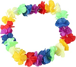 Vuev LED Lights Hawaii Flower Garland Necklace Hula Wreath Birthday Pool Party Supply