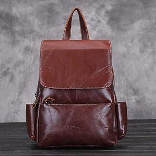 Myzixuan mochilas de Cuero de vaca genuino para las Mujeres de Gran capacidad de La Vendimia