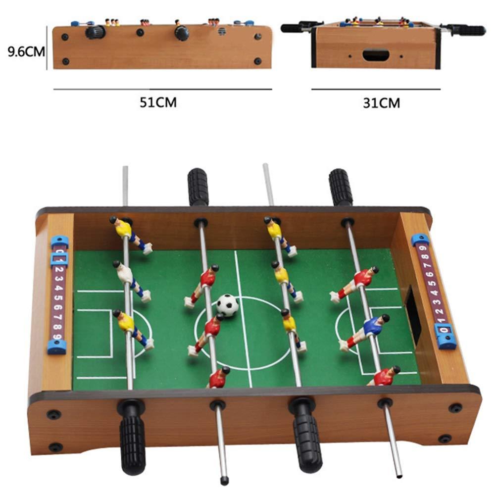 Fútbol Foosball Tabla Mini futbolín de mesa de juegos portátil de ...