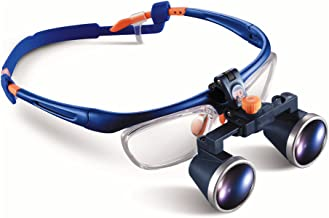 Medical Dental Surgical Loupes, 3.5X FDA Approved PD Two-way Adjustment Goggles Frame Binocular Magnifying Glasses Loupe ((360-460 mm))