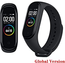 "PADY Original Mi Band 4 0.95"" 3 Color AMOLED Screen Smart Bracelet Smart Band Heart Rate Monitor Sleep Monitor Fitness Tracker Bluetooth Sport 5ATM Waterproof Standard Version (Black-Global Version)"
