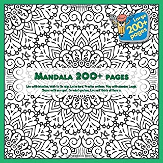 Mandala 200+ pages Live with intention. Walk to the edge. Listen hard. Practice wellness. Play with abandon. Laugh. Choose...