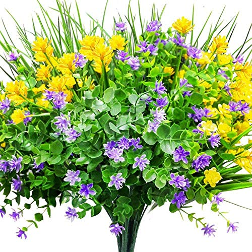 6 Stk. Künstliche Blumen UV-Schutz im...