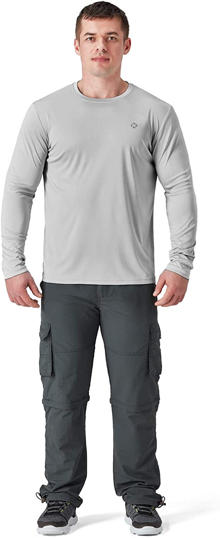 UV Sun Protection Performance Long Sleeve T-Shirt Lightweight Running Outdoor Shirt NAVISKIN Mens UPF 50