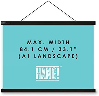 Luckies of London Magnetic Poster Hanger - Display Posters and Maps with Magnetic Frame Hanger - Scratch Map Hanging Frame