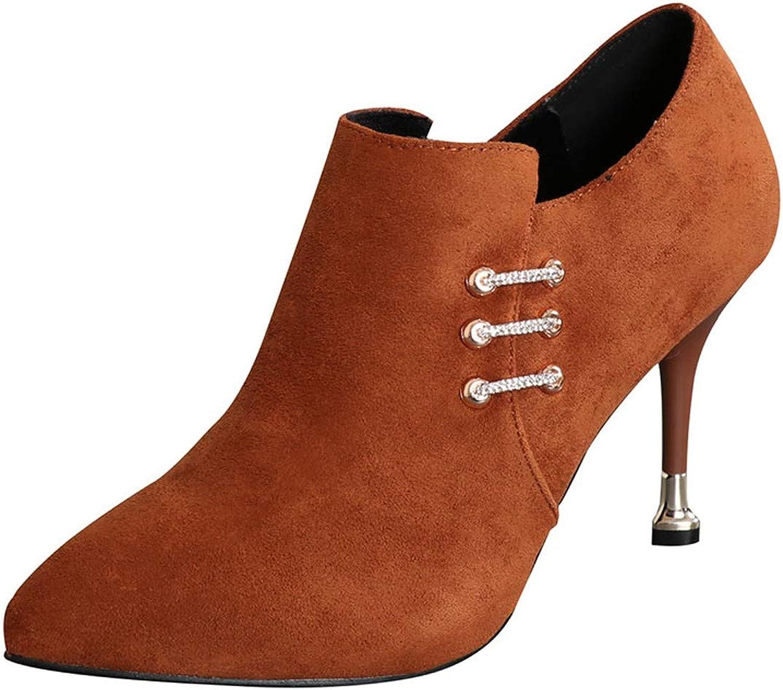LBTSQ-Sexy Hochhackige Schuhe Spitzen Köpfe Kurze Stiefel Witze Dünnen Dünnen Dünnen Absätzen 9Cm Martin Stiefel Stiefeletten Blanken Stiefeln.  a457b7
