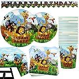 102 piezas de Accesorios para Fiesta Safari Artículos de Decoración de Celebración Temática de...