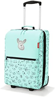 reisenthel Trolley XS Kids Luggage, Lightweight Compact Roller Bag, Cats and Dogs Mint