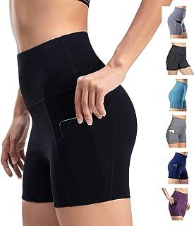 Leggings de yoga para mujer, cintura alta, bolsillos de control de barriga, entrenamiento, pantalones casuales
