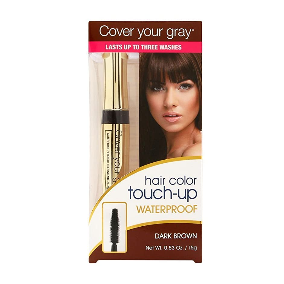 靄噴水縫い目Cover Your Gray 防水ブラシイン、ダークブラウン、15g