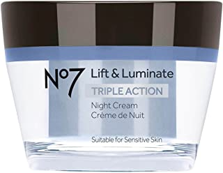No7 Lift & Luminate Triple Action Night Cream - 1.69oz