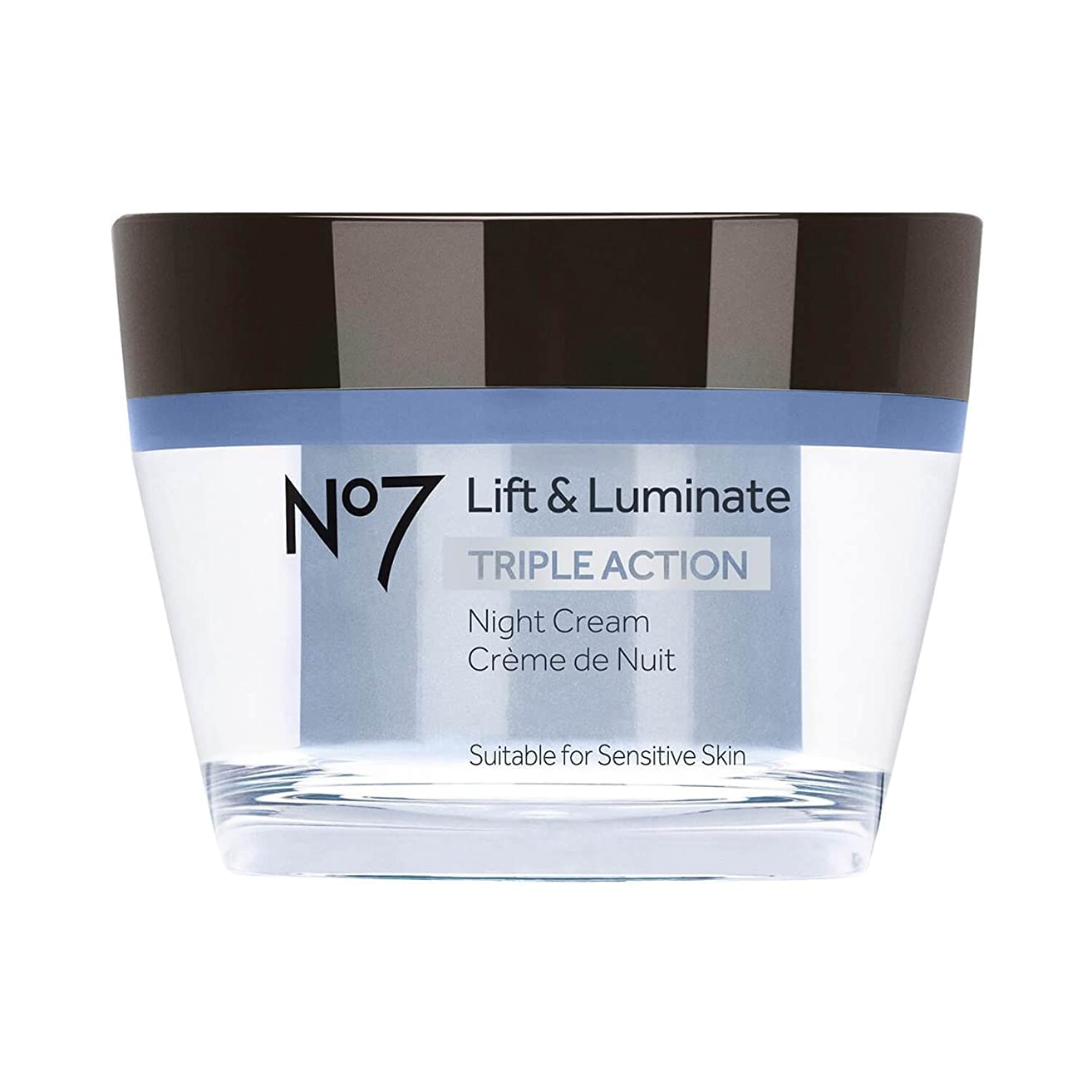 No7 Lift & Luminate Triple Action Night Cream - 1.69oz
