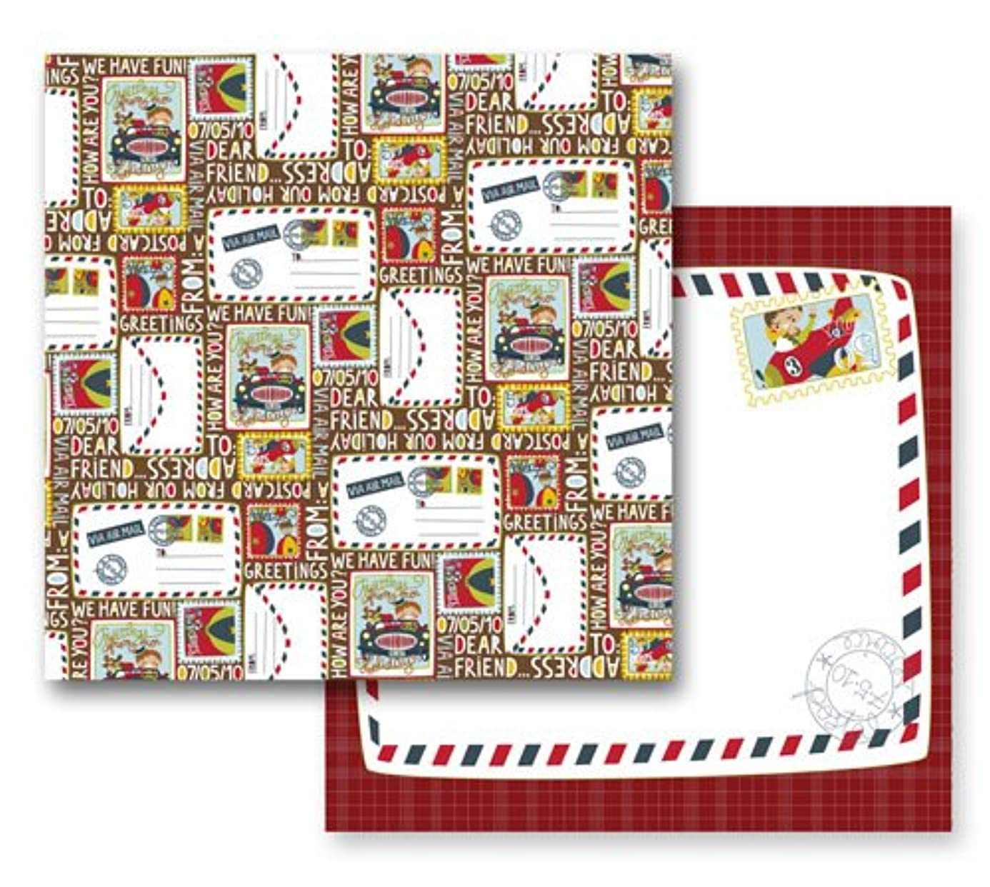 Prima 841867 12 by 12-Inch Annalee Double-Sided Cardstock Paper, Postcards, 10-Pack zxd2681209