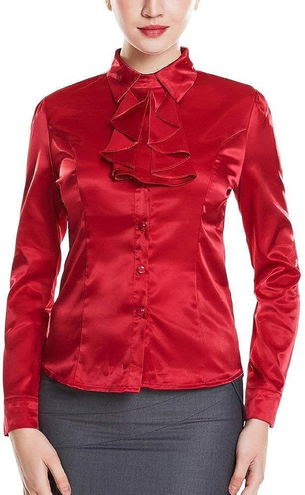 Camisa De Trabajo En Seda Sintética Camisa De Blusa En ...