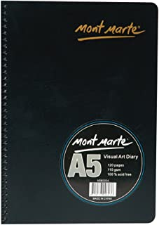 Mont Marte Visual Art Diary Spiral Bound White Paper A5 110gsm 120 Sheet