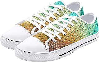 Schmitz Unisex Low Top Canvas Sneakers for Men Women Lace Up Casual Shoes
