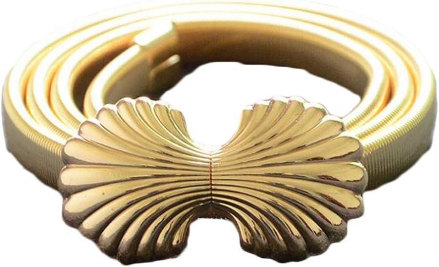 Wangqianli New Ladies Metal Spring Iron Waist Chain Buckle Fashi