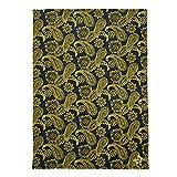 Vera Bradley Damen-Überwurfdecke aus Plüsch, XL, mehrere Teams erhältlich, University of Michigan Bandana Marineblau/Gold, Einheitsgröße