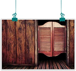 funkky Western Decor Collection Modern Frameless Painting Old Vintage Rustic Wild West Swinging Cowboy Bar Saloon Door Picture Bedroom Bedside Painting 24