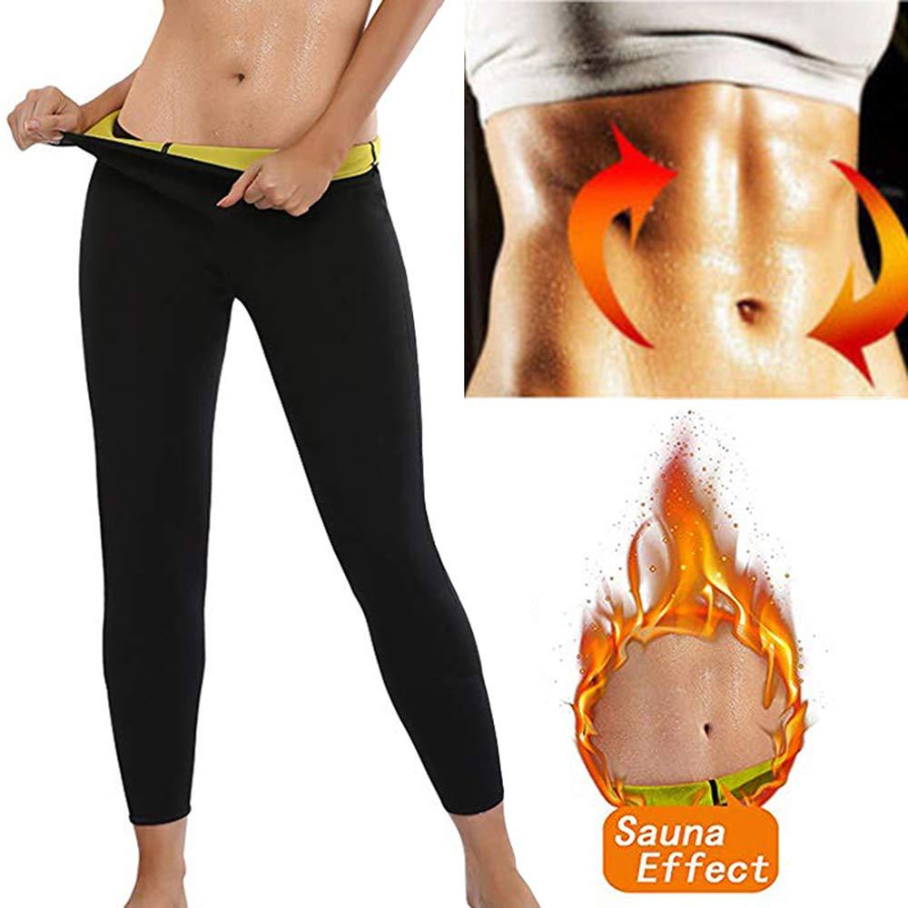 Wflrf Pantalones Sauna Fitness Mujer Neopreno Reductores Adelgazantes Pants Leggins Anticeluliticos Cintura Alta Mallas Fitness Push Up Para Deporte Running Yoga Gym Quema Grasa S Pantalones Ropa
