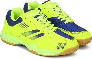 Yonex Junior Non Marking Badminton Shoes, Lime/Navy