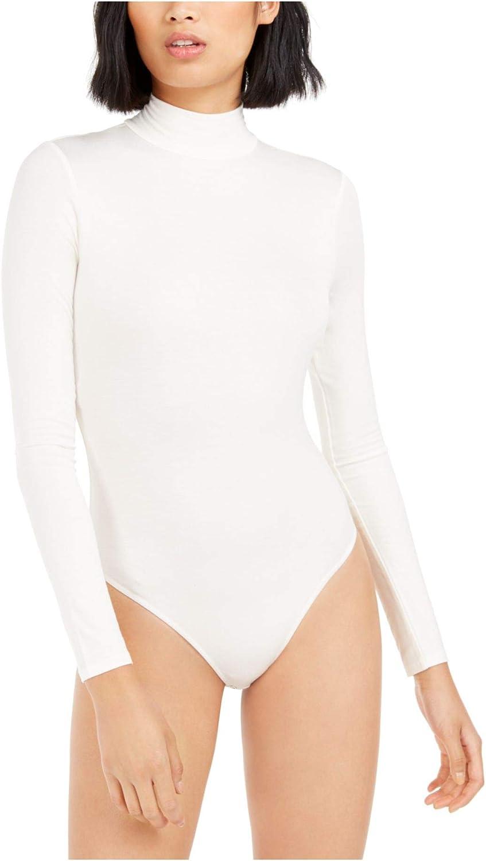 Bar III Womens Ivory Tilley x Turtleneck Bodysuit, Size 2XL
