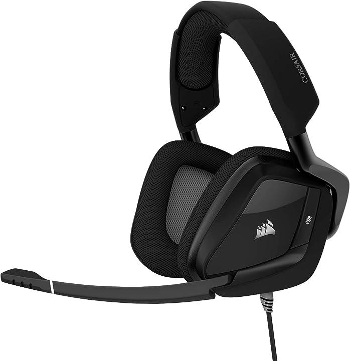 Cuffie gaming corsair gaming void pro stereo premium gaming headset, carbonio (rinnovato) CA-9011187-WW/RF