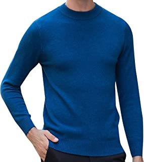Men's Formal Loose Fit Merino Jumper Tops with Ribbing Edge
