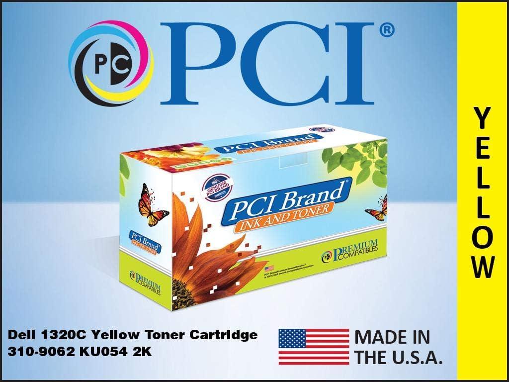 PCI Brand Compatible Toner Cartridge Replacement for Dell 1320C Yellow Toner Cartridge 310-9062 KU054 PN124 2K Yield