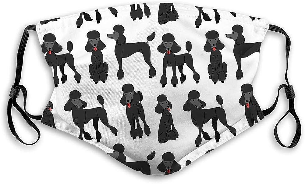 Adjustable Warm Super popular specialty store Mask Bandana Black Poodle Action 1 year warranty in