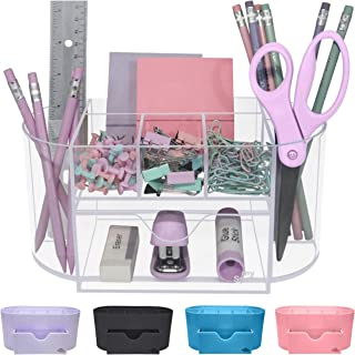 Acrylic Desk Organizer for Office Supplies and Desk Accessories Pen Holder Clear Office Organization Desktop Organizer for...