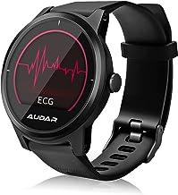 Audar ECG PPG Activiteit Tracker met Hartslagmeter Bloeddruk Slaapmonitor Stap Calorie Counter Ondersteunde 13 talen IP67 ...