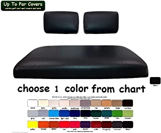 Yamaha G-11, 14, 16, 19, 20, 21, 22 Custom Golf Cart Seat Cover Set Made with Marine Grade Vinyl - Staple On - Choose Your Color From Our Color Chart!
