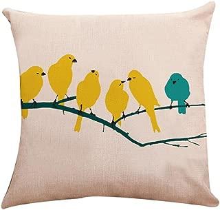 Iuhan  Throw Pillow Case Cushion Cover, Birdie Square Pillow Cover Cushion Case Toss Pillowcase Hidden Zipper Closure 18