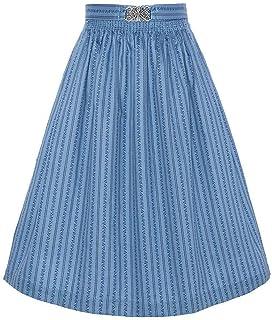 Mia san Tracht. Damen Dirndl-Schürze 65cm mit Broschen-Schließe Salzburger Blau, 9075/80-SALZBURGER/MARINE, S