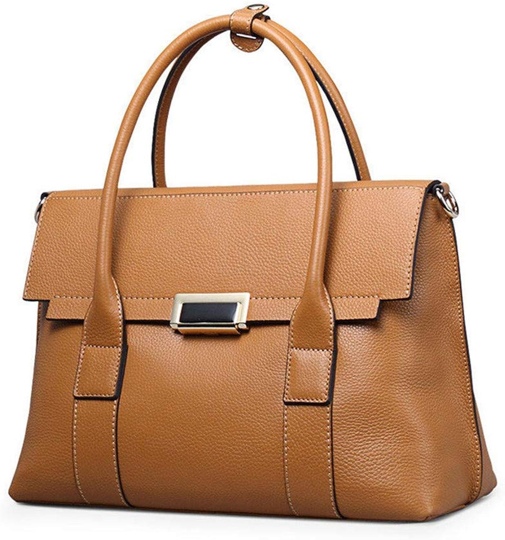 Sturdy Fashian Women's Leather Tote, MultiFunction Handbag, Leather Shoulder Messenger Handbag Large Capacity (color   Brown)