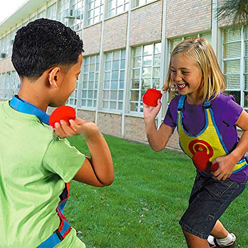 Catch and Toss Game, Nylon Buckle Design Dodge Ball Tag Sticky Vest with 1 Sticky Shirt 3 Balls for Outdoor Beach Play