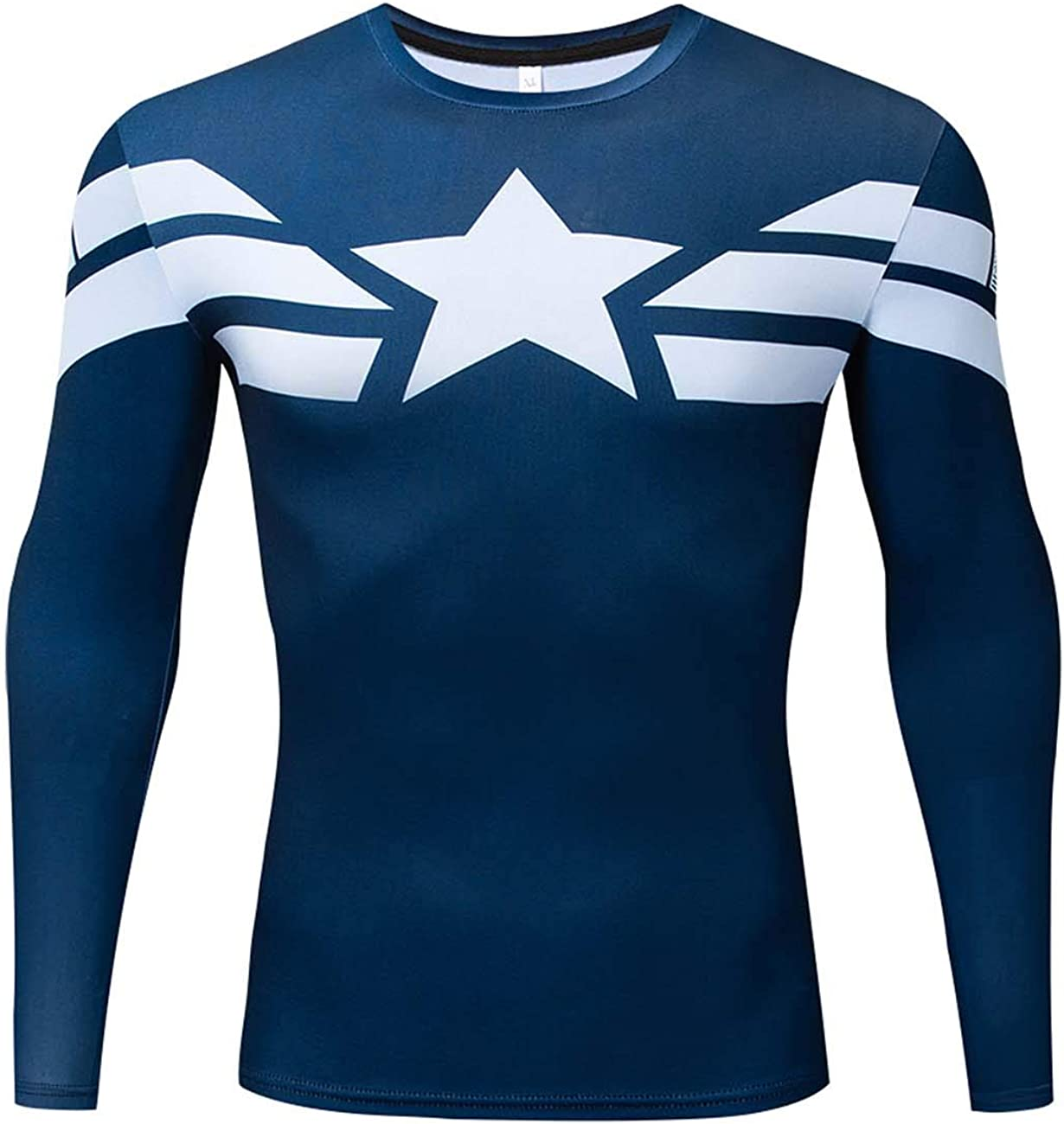 RONGANDHE Men's Branded goods Super-Hero Compression Sports Free shipping anywhere in the nation America Te Fitness