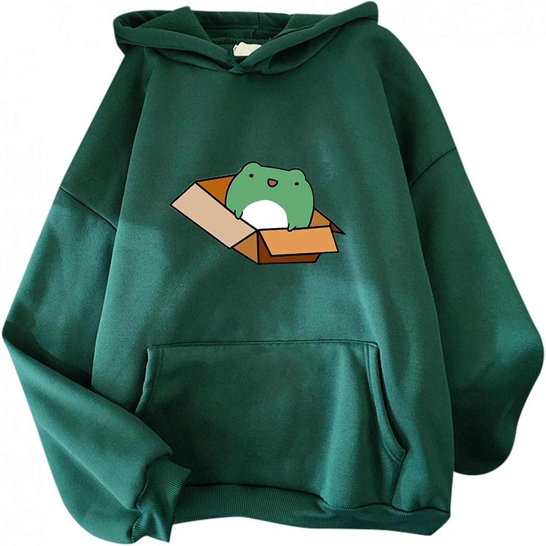 TAYBAGH Hoodies for Women, Sweatshirts Casual Teen Girls Dinosaur Print Long Sleeve Pullover Tops Graphic Jumper Hoodies