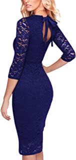 GlorySunshine Floral Lace Back Strap Bodycon Cocktail Party Dress for Women