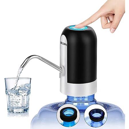 Akozon Dispenser intelligente per pompa per acqua potabile automatica ricaricabile USB wireless elettrica Nero