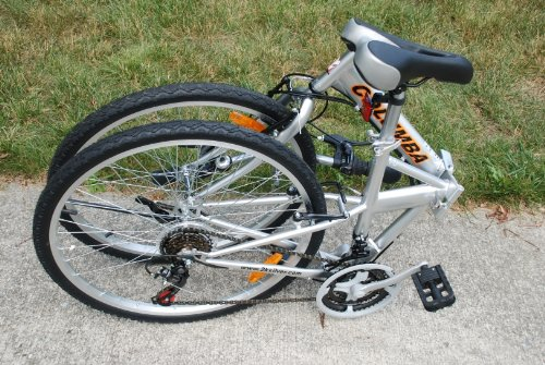 Columba 26 inch Folding Bike w. 18 Speed Silver (SP26S_SLV)