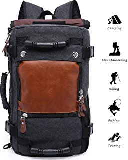 Anti-theft Travel Daypack Hiking Backpack Multifunction Water Repellent Outdoor Trekking Knapsack Carry-on Bag (black738)